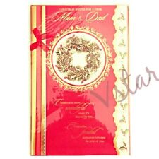 LUXURY CHRISTMAS GREETING CARDS FOR MOM & DAD- PREMIUM QUALITY
