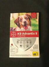 Bayer K9 Advantix Ii Large Dog 21-55lb Flea Treatment 4 Sealed Monthly Doses