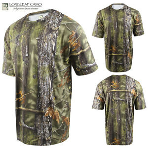 MENS LONGLEAF GREEN CLASSIC SOFTTOUCH SHORT SLEEVE HUNTING CAMO TEE