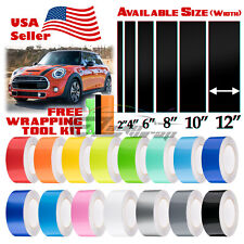 Gloss Color Racing Stripes Vinyl Wrap Decal For Mini Cooper Stripe 10FT / 20FT