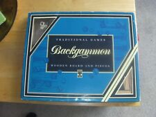LAGOON GAMES BACKGAMMON GAME WOODEN BOARD AND PIECES, BNIB