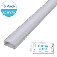 5Pack 1M U-shape Aluminum Channel Profile For LED Strip Light Diffuser/end caps