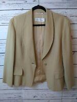 Max Mara Italy Women's Wool Blend Jacket Blazer Fully Lined Size 8/ Medium / M