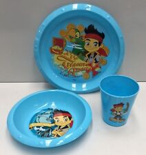 JAKE & THE NEVERLAND PIRATES KIDS PLASTIC MEALTIME PLATE / BOWL / CUP