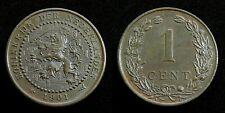 Netherlands - 1 Cent 1901 variant b: koninKrijk ~ UNC