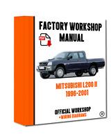 >> OFFICIAL WORKSHOP Manual Service Repair Mitsubishi L200 1996 - 2001