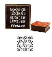 Printtoo Craft Textile Platz Schmetterling Muster Marke Brown Holz Stempel
