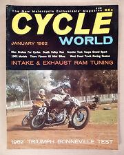 Cycle World Magazine #1 - January, 1962 -- motorcycle magazine