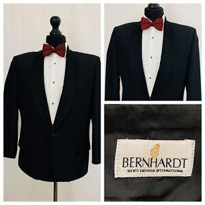 Tuxedo Dinner Suit Jacket Mens Chest 38 Short Black Formal Bernhardt  P51