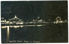 Rppc Ny Rochester Charlotte Ontario Beach Park at Night 1907 Monroe County