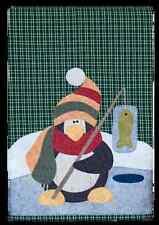 Polar Penguin ~ Wooden Bear Quilt Designs ~ Winter Applique Pattern tea towel
