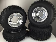 4 NEW Yamaha YFZ350 Banshee 350 Polished Aluminum Rims & MASSFX Tires Wheels kit