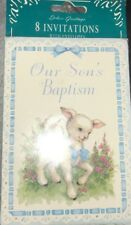 Our Son's Baptism Invitations 8 ct Baptism, Christening Party