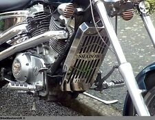 HONDA VT 1100 SHADOW SPIRIT SABRE STAINLESS STEEL RADIATOR COVER GRILL GUARD