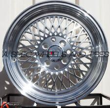 F1R F01 15X8 4x100/114.3 Et25 Machine Silver Wheels Fits Bmw E30 318 325 1986-91