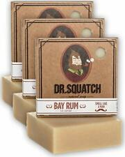 Dr. Squatch Bay Rum Soap  3 Pack / Handmade Made in USA