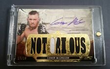 #/18 CONOR McGREGOR Topps UFC Knockout 2014 Triple Threads Auto