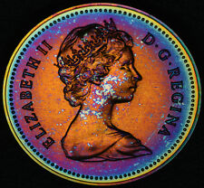 1980 Silver $1 PCGS SP-66 Amazing Rainbow toning & NEON multicolour - special
