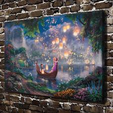Disney Rapunzel Tangled Art Canvas HD Print Wall Decor Thomas Kinkade 31x46 CN