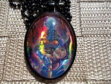 Dark Necrofear Yugioh Trading Card Custom Cosplay Pendant glass BW91 necklace