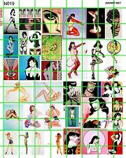 6019 DAVE'S DECALS SMALL MODERN COLORFUL POSTERS STREET ART PIN UPS BETTIE PAGE