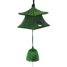 Japanese Furin Wind Chime Nambu Iron Green Tea House Lantern Bell, Made in Japan