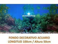 FONDO DECORATIVO ACUARIO 100x50cm de altura plantas tortuguera pecera D457