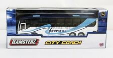 TEAMSTERZ CITY COACH BUS TO AIRPORT 1:50 SCALE WHITE BUS DIECAST VEHICLE TOY