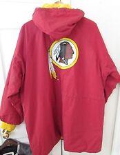 NFL Washington Redskins Game Day Hooded Coated Jacket XL EUC