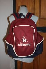 Retro 90s Vintage Style Le Coq Sportif Backpack - Excellent Condition