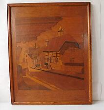 Marco De Madera Vintage Imagen Marqueteado choza Entramado de Madera casas rurales 20th Century
