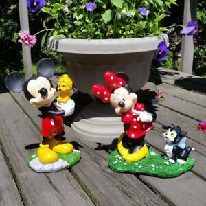 "Disney Mickey Mouse Pluto Minnie 12"" Garden Outdoor Lawn Decor Statue Figure Set"