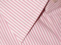 $615 NEW TOM FORD PINK WHITE PIN STRIPE SPREAD COLLAR DRESS SHIRT EU 43 17