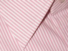$615 NWT TOM FORD PINK WHITE PIN STRIPE SPREAD COLLAR DRESS SHIRT EU 44 17.5