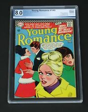 Young Romance #145 PGX 8.0 DC Comics 1967 test your Love Big hair cover