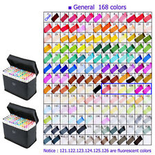 TouchFive 168Color Alcohol Graphic Art Twin Tip Broad Fine Point Marker Set