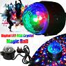 Digital RGB LED Laser Light Crystal Magic Ball Disco DJ Sound Activated Party
