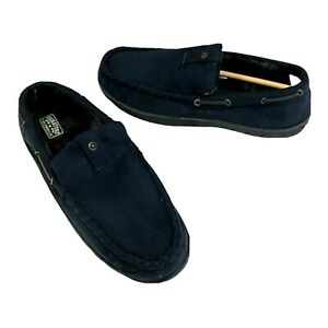 Levis Strauss Slippers Size M 9-10 Mens Blue Moccasin Memory Foam Indoor Outdoor