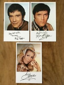 RANDALL AND HOPKIRK DECEASED  3 PUBLICITY CARDS SIGNED PRE PRINT FACSIMILE
