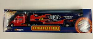 NEW Jeff Gordon 24 NASCAR Winners Circle Truck Blue 1:64 Trailer Rig Hauler