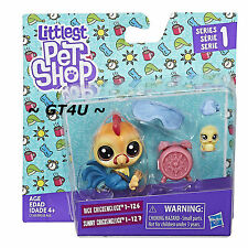 Littlest Pet Shop 2 Pack  Rick & Sunny Chickencluck Dad Baby Mini Teensie Pets