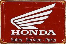 "Retro Blechschild Vintage Nostalgie look 20x30cm ""Honda"" neu"