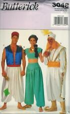 Butterick 3048 Mens Misses Aladdin Jasmine Genie Costume Sewing Pattern UNCUT