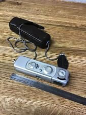 MINOX WETZLAR sub minature spy camera with leather CASE NICE,  WORKS F1