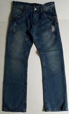 Men's Distressed Fiend Denim Co. Jeans, Light Medium Blue, Size 34/32