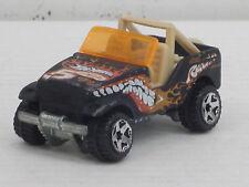 Jeep / Geländewagen in mattschwarz + Dekorstreifen, o.OVP, Hot Wheels, 1:64