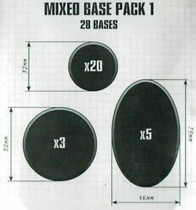 Citadel Mixed Base Pack 1 - Warhammer 40k / Sigmar - Brand New! 66-19