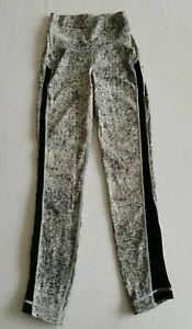 "Lululemon Wunder Under HR 25"" Leggings - Antiqued Alpine White Black UK 6 (US 2)"