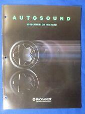 Pioneer DEX-77 KEX-900 KEH-9292 GM-A200 EQ-5000 DMSS-70 TS-6995 Catalog Brochure