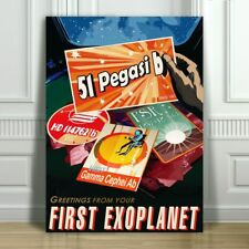 "COOL NASA TRAVEL CANVAS ART PRINT POSTER - 51 Pegasi B - Space Travel - 16x12"""